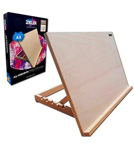 A2 beech wooden work station easel - 07290027