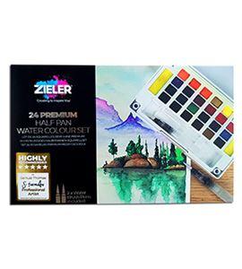 Caja de acuarelas de viaje 24 colores 1/2 godet - 09292261