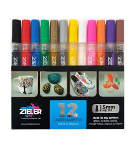 Paint markers - fine tip – set of 12 - 09299289
