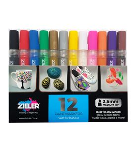 Paint markers – medium tip – set of 12 - 09299290
