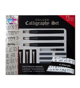 Estuche con 3 plumas recargables para caligrafía deluxe - 07292258