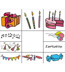 "Set sellos infantiles madera ""cumpleaños"" - 10004003"