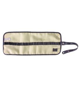 Estuche porta lápices enrollable nilón - beige - AM-348040