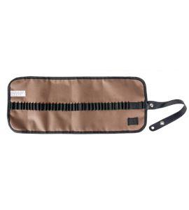 Estuche porta lápices enrollable nilón - marrón - AM-348043