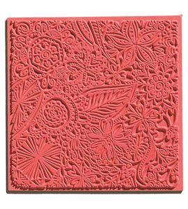 Textura arcilla polimérica cernit 9x9 flores - CE95005
