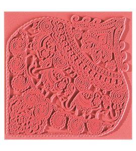 Textura arcilla polimérica cernit 9x9 elefantes indús - CE95014
