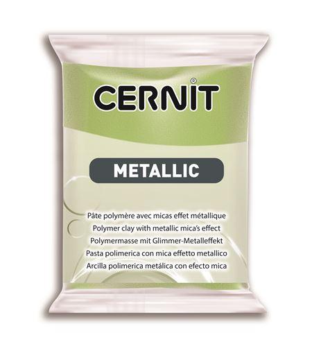 Arcilla polimérica cernit metallic 56gr. verde dorado - CE0870056051