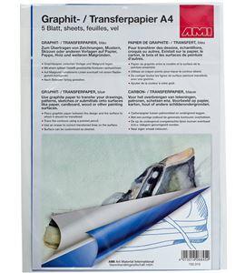 Papel de calco color azul a4 297mm x 210mm 5u. - AM-152313