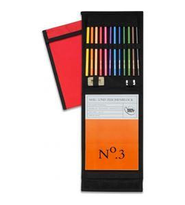 Estuche de 12 lápices de dibujo koh-i-noor con bloc - 501005