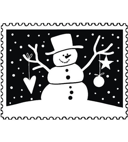 Sello de madera navidad muñeco de nieve - 29220000_PF