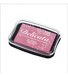 Tampón de tinta delicata metalizada color rosa - 29187258