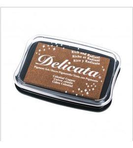 Tampón de tinta delicata metalizada color cobre - 29187638
