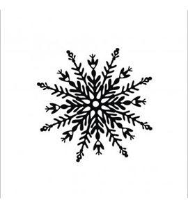 Sello de madera copo de nieve - 29193000