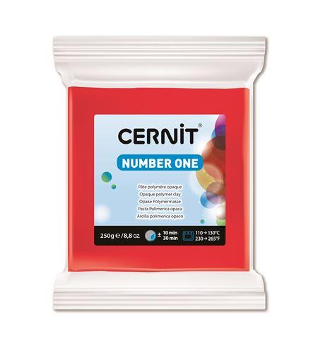 Arcilla polimérica cernit number one 250gr rojo - CE0900250400