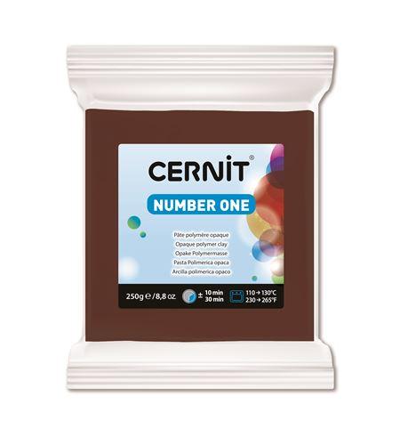 Arcilla polimérica cernit number one 250gr marrón - CE0900250800