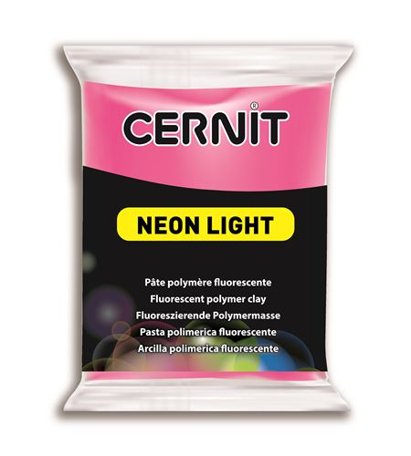 Arcilla polimérica cernit neon 56gr fucsia - CE0930056922