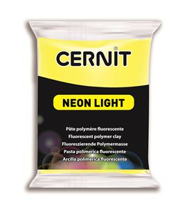 Arcilla polimérica cernit neon 56gr amarillo - CE0930056700