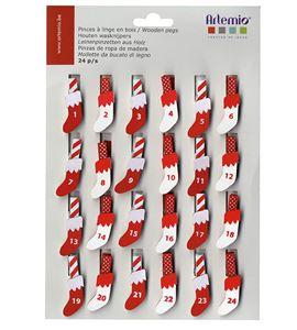 Pinzas para calendario de adviento - 14001974