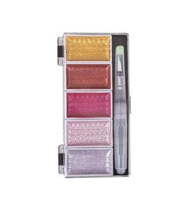 Caja de acuarela 5 colores metalizados y pincel - 38615258_PF