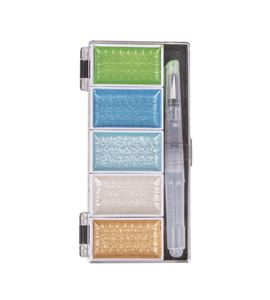 Caja de acuarela 5 colores metalizados y pincel - 38615405_PF