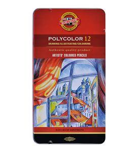 Estuche metálico 12 lápices polycolor koh-i-noor - KN362822