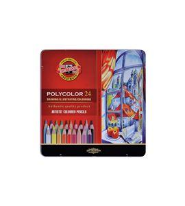 Estuche metálico 24 lápices polycolor koh-i-noor - KN362823