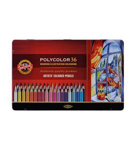 Estuche metálico 36 lápices polycolor koh-i-noor - KN362824
