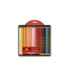 Estuche metálico 24 lápices polycolor koh-i-noor tonos retrato - KN362828