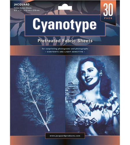 Cianotipia 30 hojas textiles preparadas listas para usar 21.59 cm x 27.94 m - JCY1130