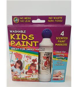 Pintura lavable para niños olor frutas 4u x 43ml - 11619 1