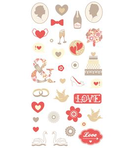 Adhesivos 3d - love - 11004418