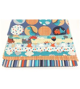 Set de telas infantiles - animales azul - 13061002