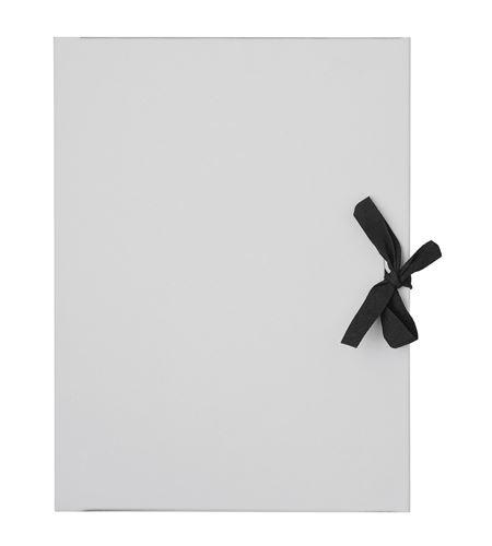 Carpeta de dibujo de cartón gris con lazo negro a3 - 677145