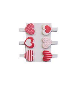 Pinzas de madera - corazones - 14001916