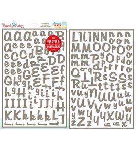 Plantilla / stencil reposicionable - alfabeto dear - 15080000-1