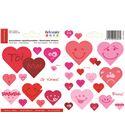 Adhesivos reposicionables - corazones