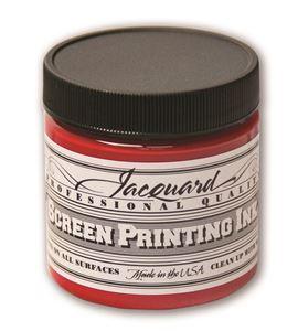 Tinta serigrafía profesional jacquard 118,29 ml. rojo - JSI1104