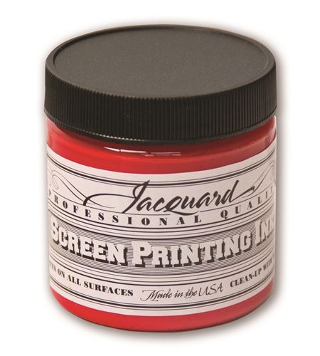Tinta serigrafía profesional jacquard 118,29 ml rojo brillante - JSI1105