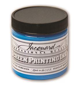 Tinta serigrafía profesional jacquard 118,29 ml. azul cielo - JSI1109