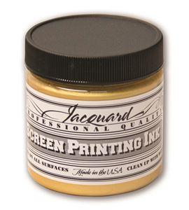 Tinta serigrafía profesional jacquard 118,29 ml. oro - JSI1120
