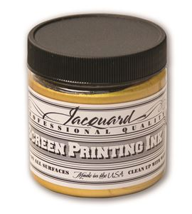 Tinta serigrafía profesional jacquard 118,29 ml oro solar - JSI1121