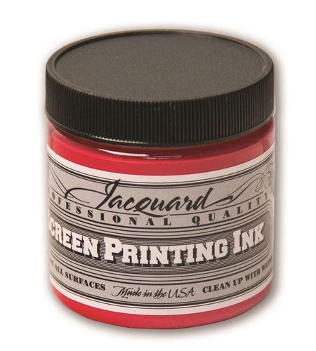 Tinta serigrafía profesional jacquard 118,29 ml rojo opaco - JSI1126