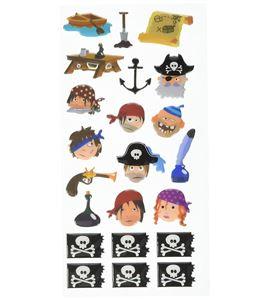 Autoadhesivos 3d piratas multicolor - 11004064