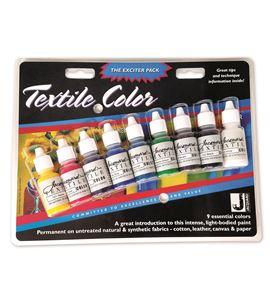 Estuche 9 colores de pintura textil textile color jacquard 14,79 ml - JAC9904