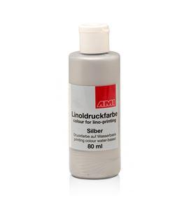 Tinta linograbado ami 80 ml. plata - 501099