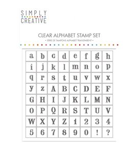 Set de sellos acrílicos abecedario y números - 60247000_PF