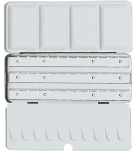 Caja de acuarela metálica vacía premium 18/36 unidades - AM-507492