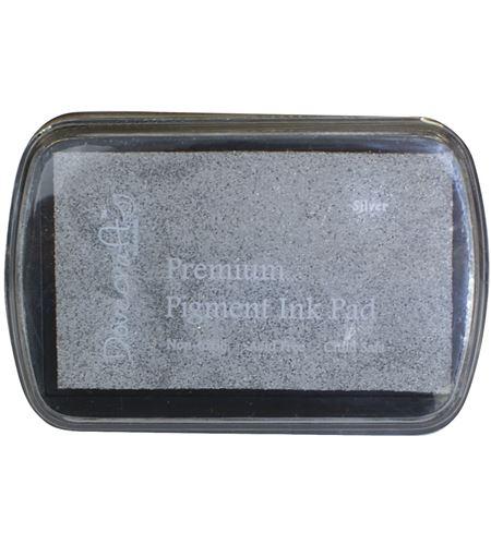 Tampón de tinta de secado lento - plata - 28990606_PF