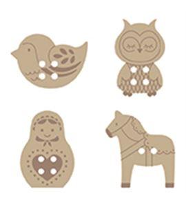 Botones de madera - rusia - 14001709