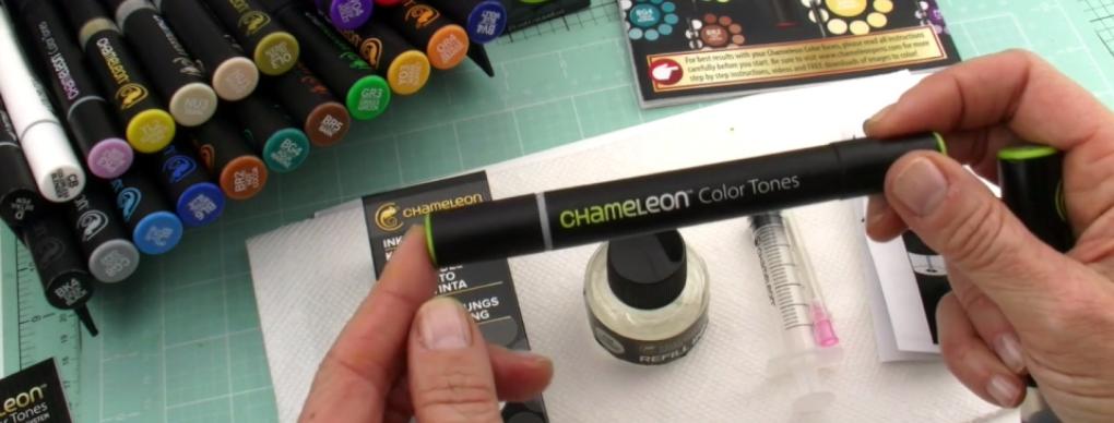 ¿Se puede recargar el depósito de mezcla de los rotuladores Chameleon?